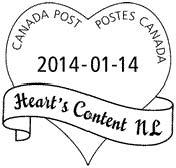 Valentine cancellation stamp 2