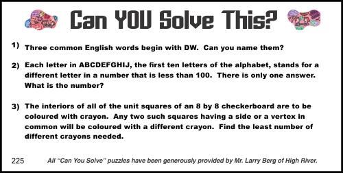 2015-04-11 Creative Logic Puzzle week 225