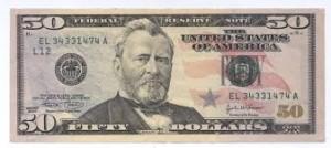 $50 US bill