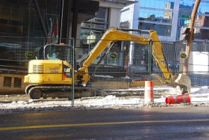 Construction taking place at the 1 Street SW underpass