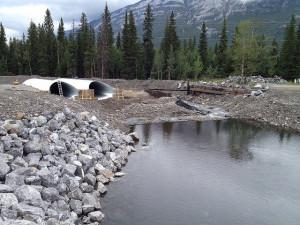 Mitigation work in the Municpal District of Bighorn, Alberta