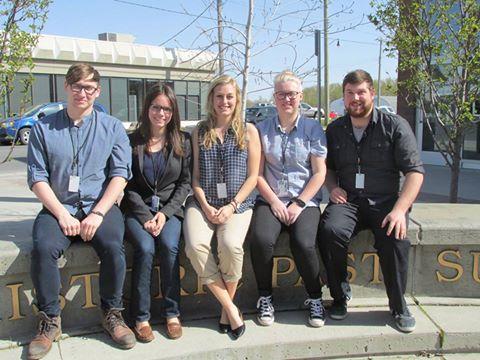 2015 Conservation Educators L to R: Logan Bennett, Rachel Lorimer, Tori Grant, Danika McNeil, Brett Jones