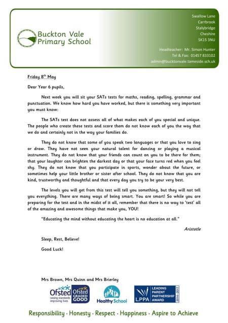 Buckton Vale Letter 11210416_1586219284959701_6023344701589598926_n