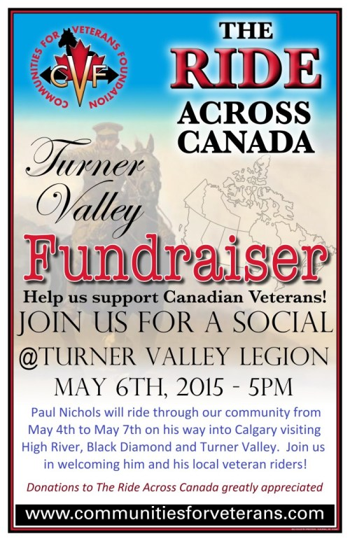 Ride Across Canada - Turner Valley - May 6