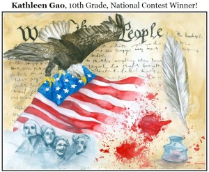 Kathleen Gao, 10th Grade, National Constitution Day Poster Design Contest Winner.