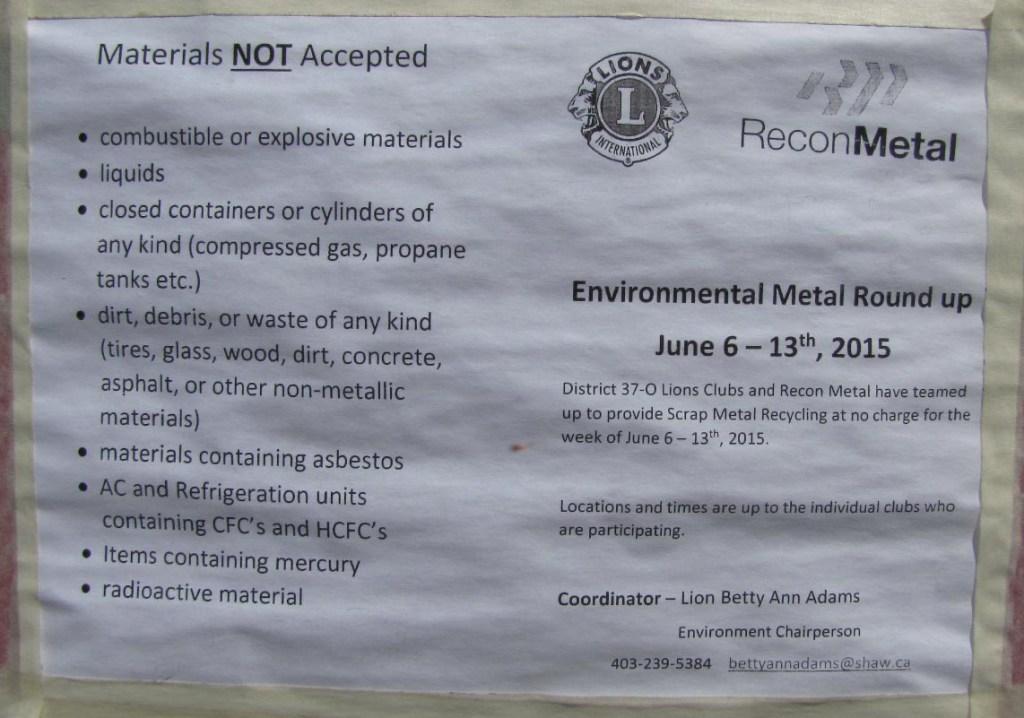 2015-06-09 Metals not allowed