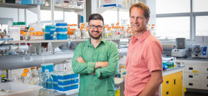 University of Calgary scientists Casey Hubert, left, and John Yackel, along with Brent Else, will collaborate with about 170 researchers from universities, government departments and private-sector partners. Photo by Adrian Shellard