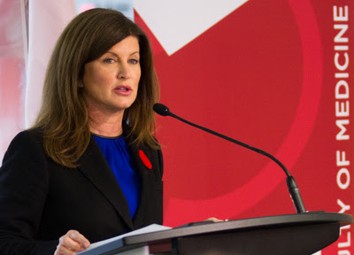 Rona Ambrose, federal minister of health, announced the funding Tuesday under the Canadian Institutes of Health Research. Archive photo by Riley Brandt, University of Calgary