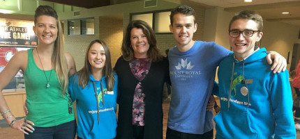 Lori Sigurdson, Minister of Innovation and Advanced Education, joined Students' Association leaders at Mount Royal University Tuesday as part of their student orientation and welcome back activities