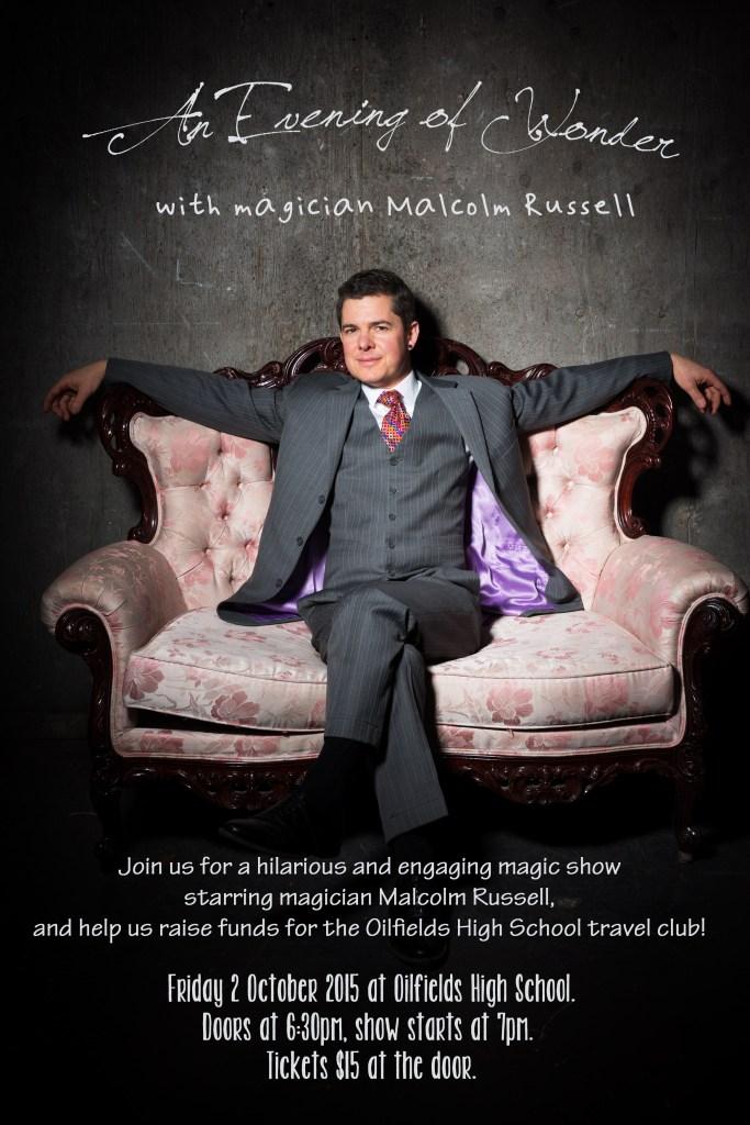 Oilfields High travel club magic show poster 1