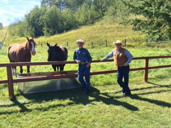 OH Ranch manager Ken Pigeon (L) and foreman Robert Lippert (R)