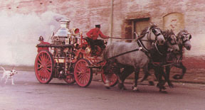 The fire horses were fearless and fast.