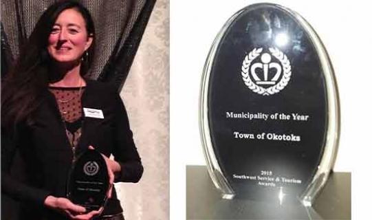 Okotoks wins municipality award