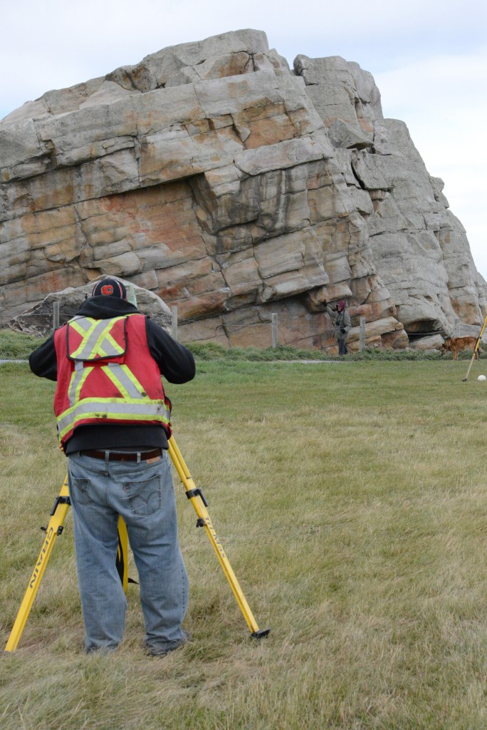 Using the latest in cutting edge technology, crews digitally map the Okotoks Erratic. The seven-million-kilogram boulder, sacred to southern Alberta First Nations, has been selected as one of the world's most significant cultural heritage sites by the Oakland-based CyArk 500 Challenge.