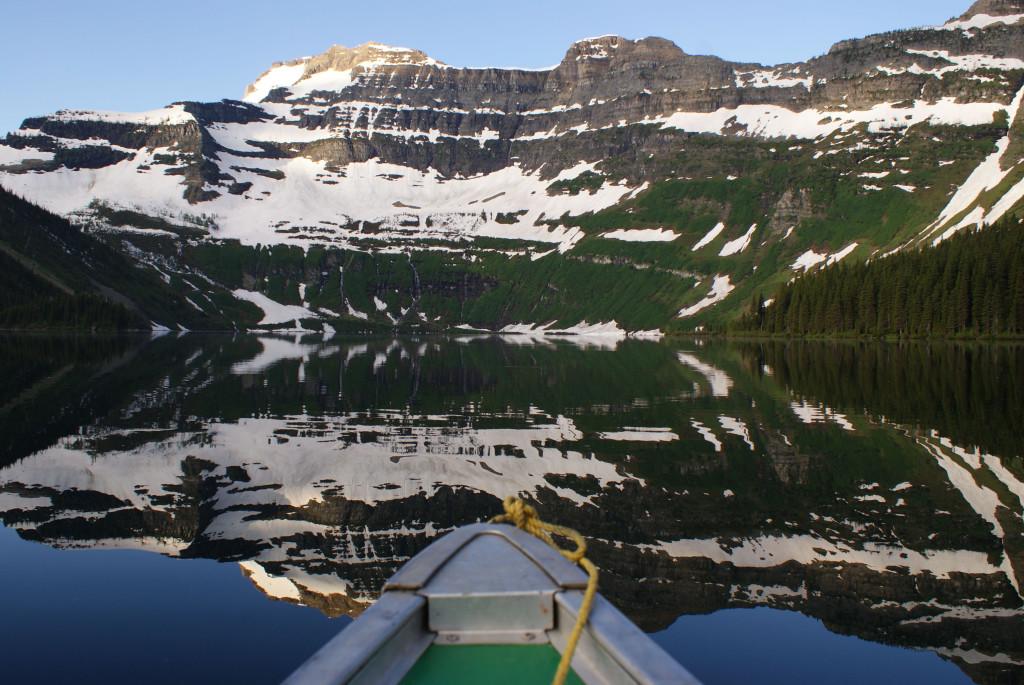 Cameron Lake scenic from canoe Bob Dyrda 2012