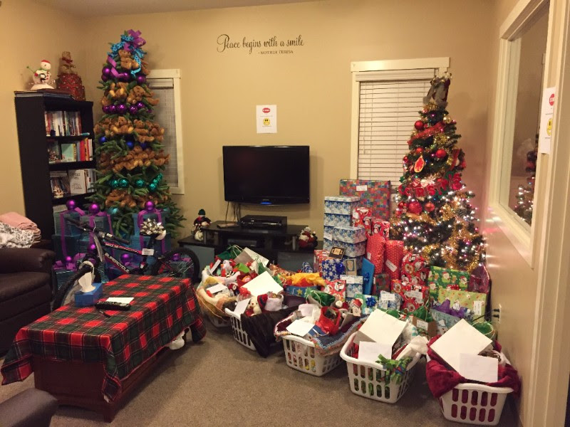Christmas gifts put together for residents thanks to donations from our Wish Book Campaign.