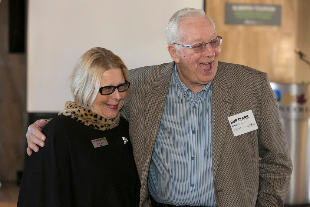 Town of Olds Mayor Judy Dahl and Olds College Board Chair Bob Clark