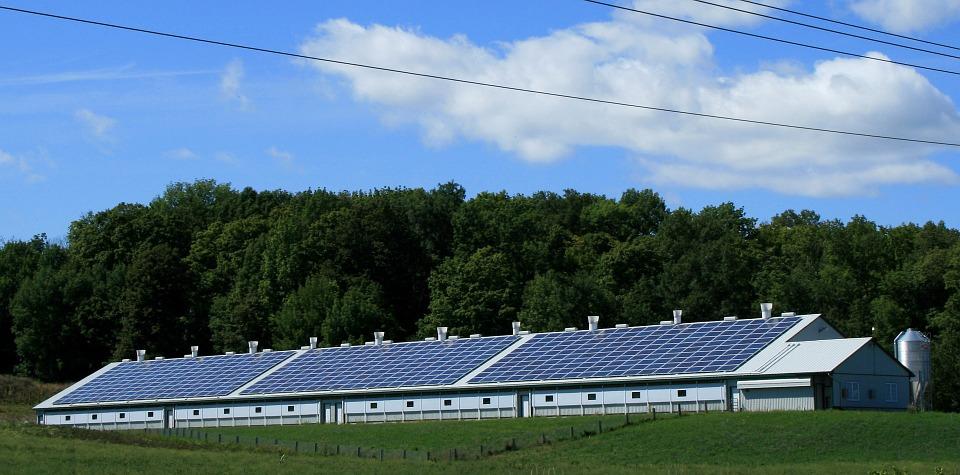 Solar power on barn