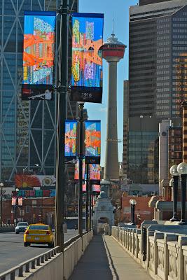 Calgary downtown banner art