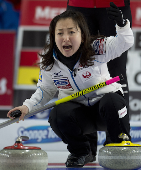 Japanese skip Satsuki Fujisawa led her team to its first-ever world championship medal. (Photo, Curling Canada/Michael Burns)