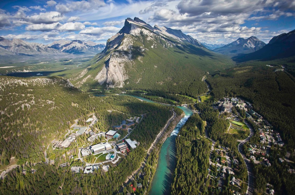 Aerial view of Banff Townsite