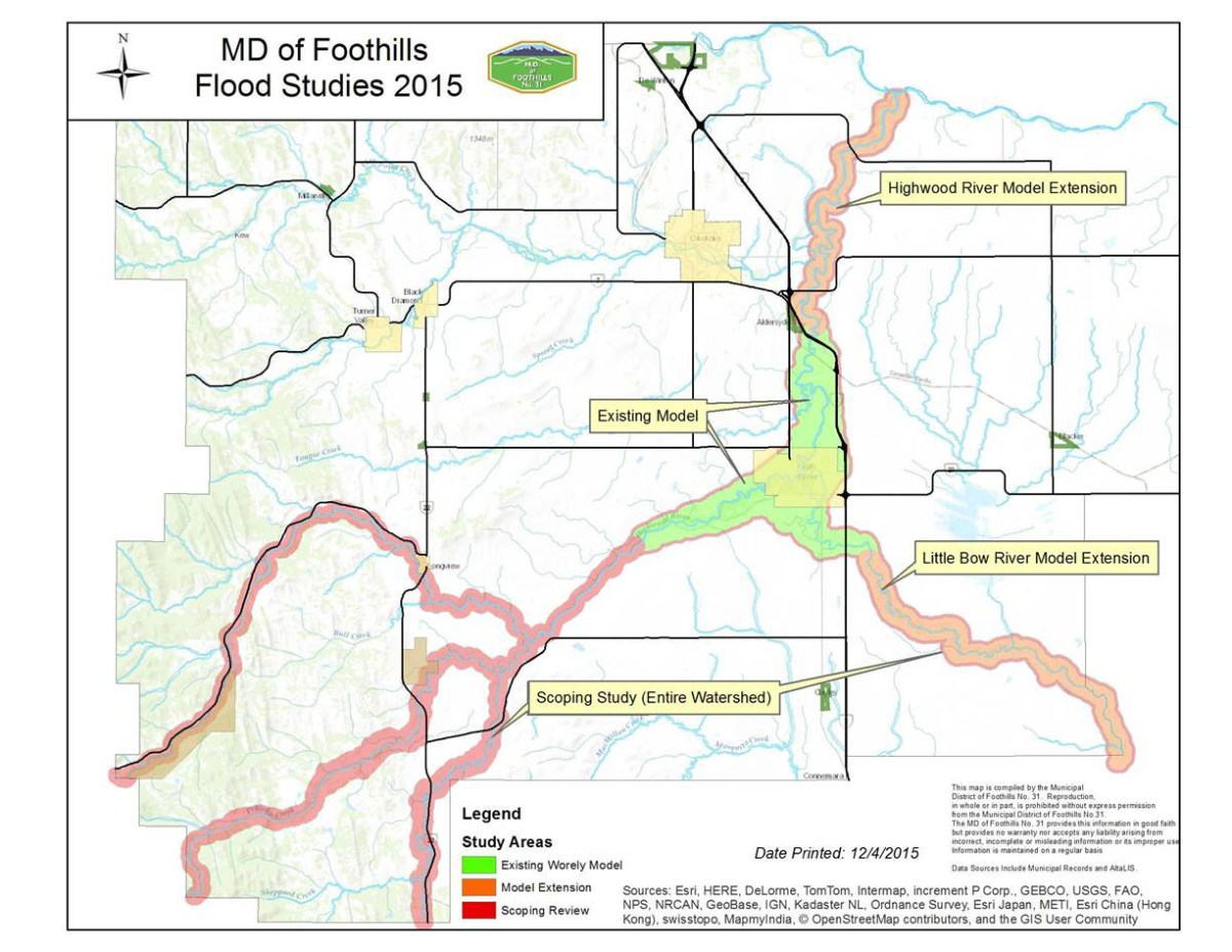 Flood Scoping Study Area Map