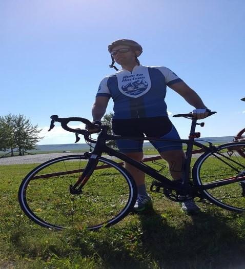 John Barlow with bike