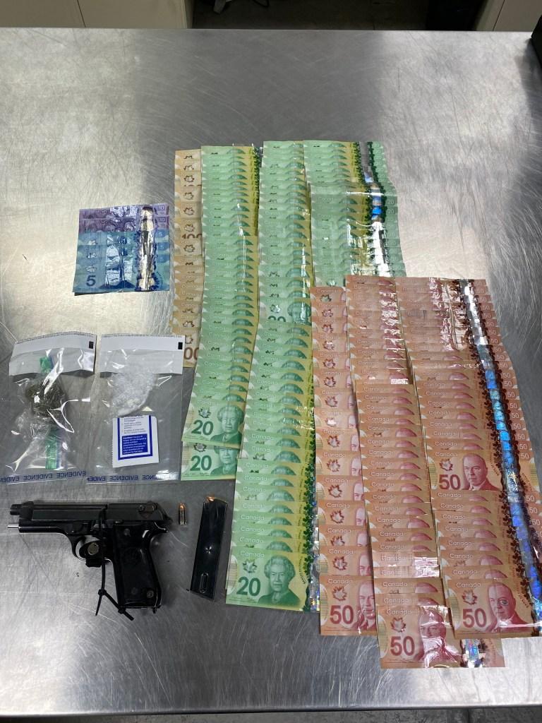 Okotoks RCMP Seized Stolen Firearm, Money and Drugs