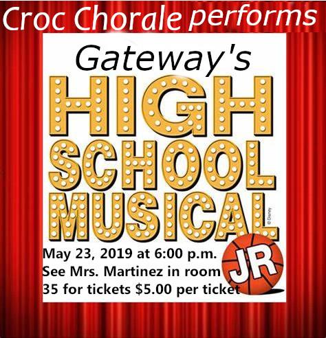 Croc Chorale Performs: Gateway's High School Musical Jr
