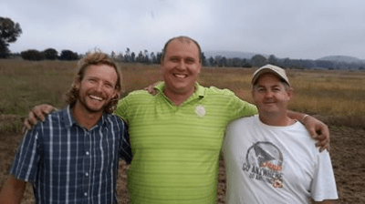 Mighty Men Joburg committee members, from left, Kyle, Victor and Michael.