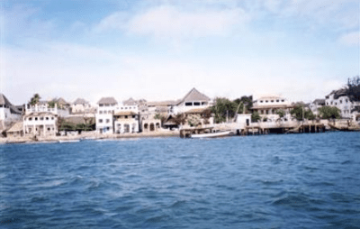 The coast of Lamu County, Kenya, where the village of Mpeketoni is located, in a photograph from 2000. Courtesy of Open Doors International