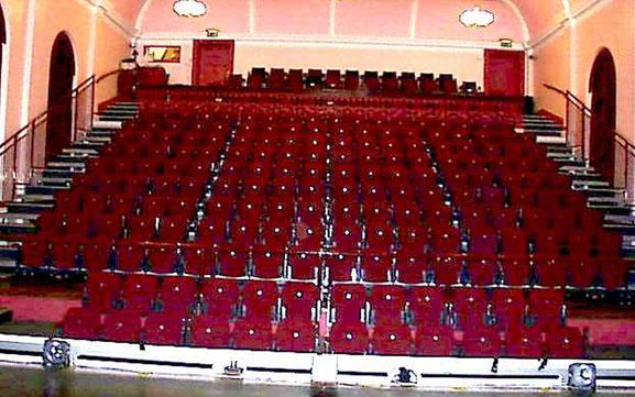 The auditorium of Portadown Town Hall Theatre