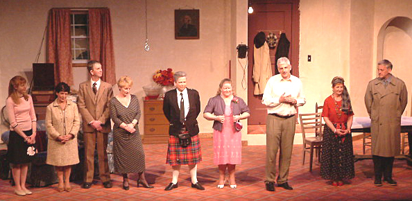 The cast of 'Married Bliss' pictured on stage in LaGrange, USA.
