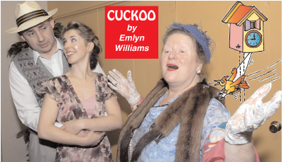 Some of the cast of 'Cuckoo' by Emlyn Williams.