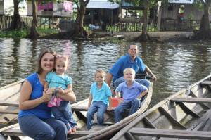 Jeff & Erin Gautney with their children,  Jace, Titus, and Micaiah in Leticia, Colombia
