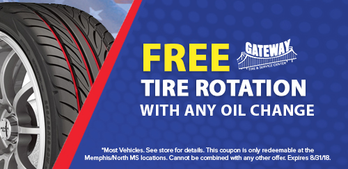 Gateway August Coupons_Free Tire Rotation