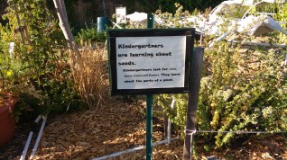 Signage re curricula, Wedgwood K-8 garden