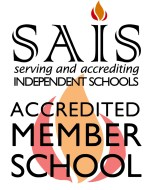 ACCREDITED SAIS logo for schools - white