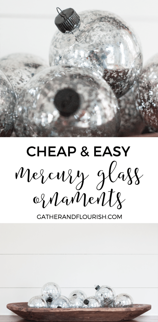 Cheap and Easy Mercury Glass Ornaments from Hobby Lobby for only $12!
