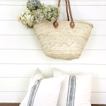 DIY No Sew Grain Sack Pillow Cover