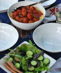 Spaghetti and Meatballs | gatherandgraze.com