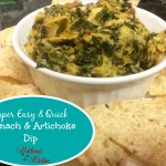 Super Easy Spinach Artichoke Dip
