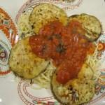 Fried Eggplant with Spaghetti