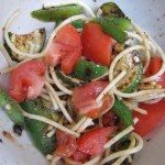 Sauteed Veggies Over Spaghetti
