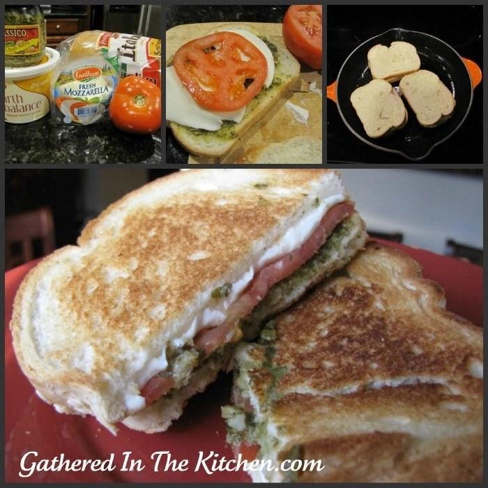 pesto sandwich collage