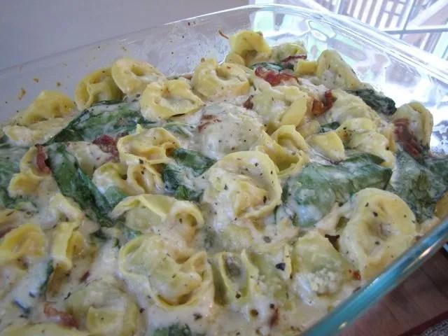 tortellini spinach bake