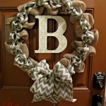 DIY Chevron Burlap Wreath Tutorial