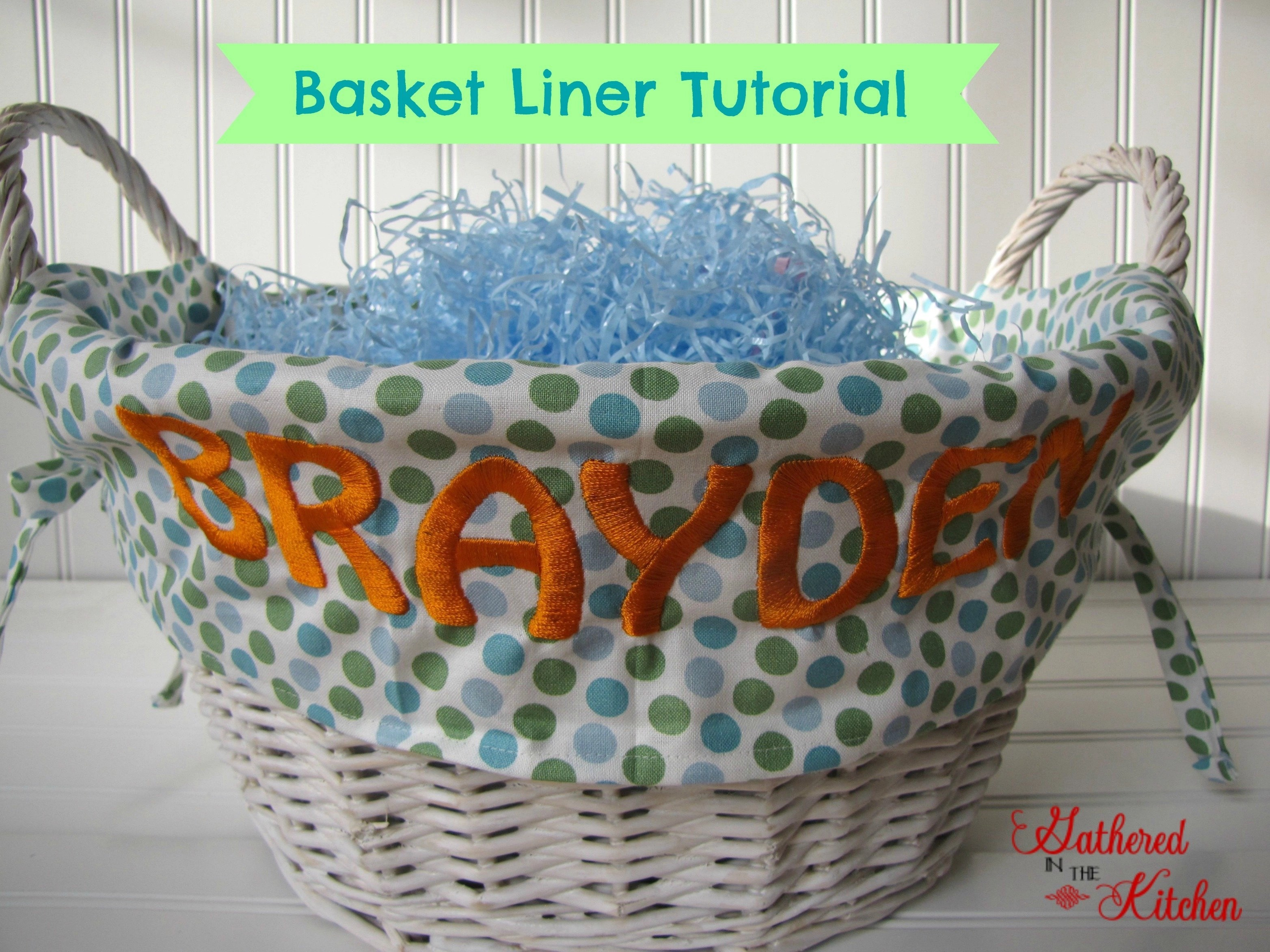 DIY Easter Basket Liner Tutorial #diy #easter #tutorial #basket