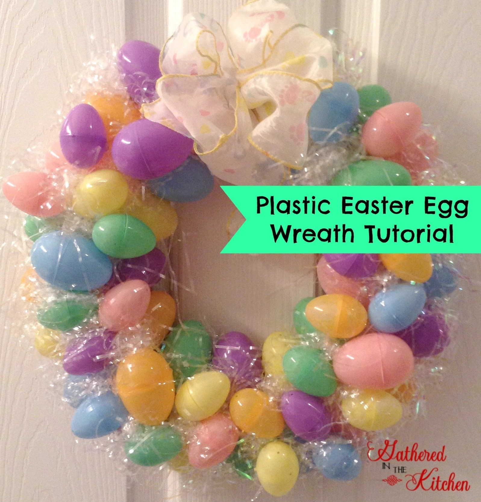 DIY Plastic Easter Egg Wreath Tutorial