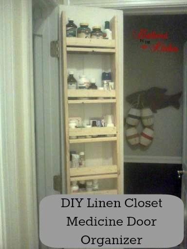 DIY Linen/Medicine Closet Door Organizer & Linen/Medicine Closet Door Organizer